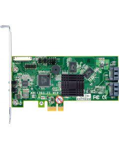 Areca 2-Port PCIe x4 6GB/s SATA Adapter Raid controller