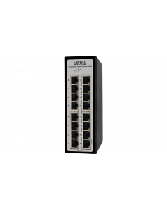 16 port Industrial Ethernet Switch, dual 9V-36VDC, -40~75°C