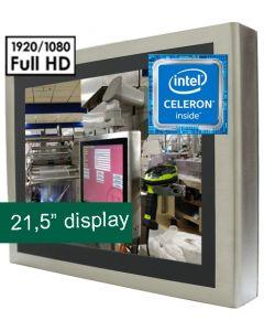 21,5'' IP65 PCT Panel PC Celeron J1900 12V