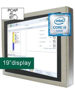 19'' IP65 PCT Panel PC i5-6300U 24V
