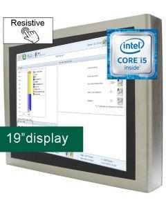 19'' IP65 Resistive Panel PC i5-6300U 24V