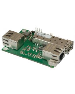 Ethernet media converter 2x copper ports RJ45, 1x SFP port