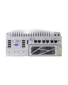 Nuvo-7166GC PoE Fanless, 2x PCIe, 6x GbE, 8x USB 3.1