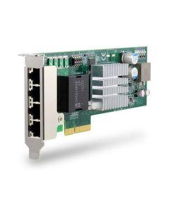 PCIE-POE334LP Low-profile 4-port Gigabit 802.3at PoE+ card surgeprotection