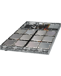 "1u SuperStorage 5019D8-TR12P X11SDV-8C-TP8F SuperMicro 12 Hot-swap 3.5"" SATA3 bays"